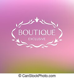 Boutique. Logo - Template logo for clothing stores,...