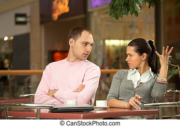 Misunderstanding - Scene in cafe - misunderstanding between...