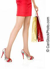 Legs of the fan of shopping