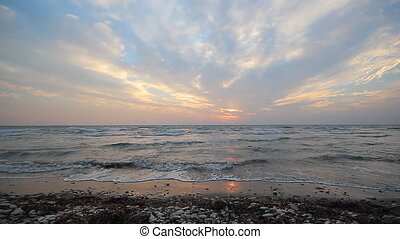 Sunset over the Mediterranean Sea, Pervolia village, Cyprus....