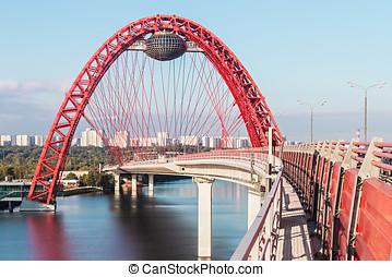 Zhivopisny Bridge is cable-stayed bridge - Zhivopisny Bridge...