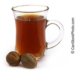 indio, Harbal, té, de, Terminalia, bellericais,