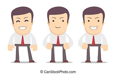 Set of manager character in poses. - Set of manager...