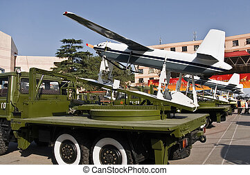 Chinese unmanned aerial vehicle (UAV) mounted on a military...