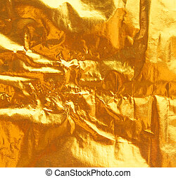 gold leaf - Shiny yellow leaf gold foil texture background