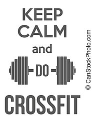 Keep Calm and do crossfit Card or invitation