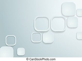White Rounded Rectangles Background