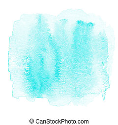 Watercolor abstract hand painted textured wet ink spot for...