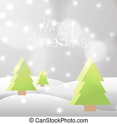 Xmas background with Christmas trees. Vector new year...