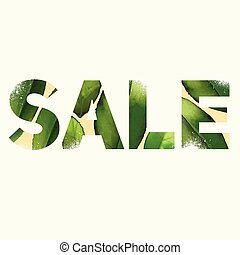Sale poster - Vector sale poster with double exposure effect