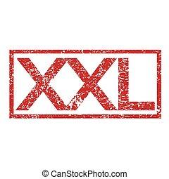 Stamp text XXL