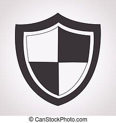 protección, icono,