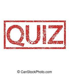 Stamp text QUIZ
