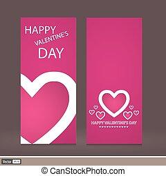 Creative design Valentine's Day. Vector invitation to a...