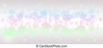 Gentle multicolored bokeh sparkly website header/banner -...