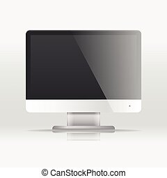 Modern lcd monitor template. Paste your content into the screen