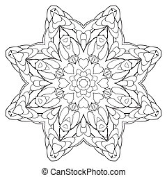color book kaleidoscopre for relax time - coloring book for...