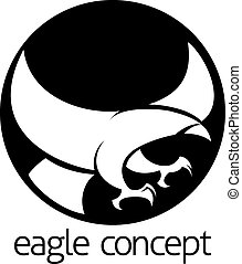 Abstract eagle circle concept