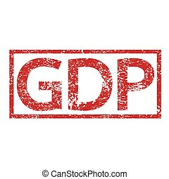 Stamp text GDP
