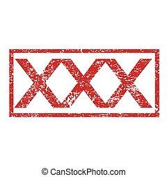 Stamp text XXX