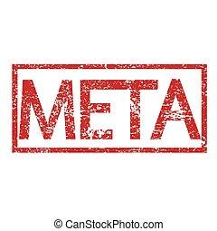 Stamp text META