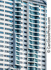 vienna, residential high-rise - a high-rise building in...