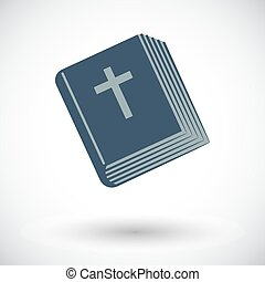 Bible single icon - Bible Single flat icon on white...