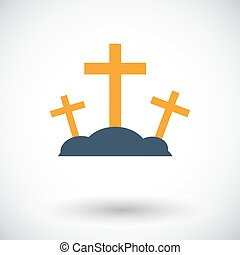 Calvary single icon. - Calvary. Single flat icon on white...