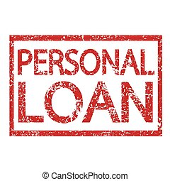 Stamp text PERSONAL LOAN