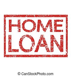 Stamp text HOME LOAN