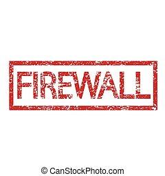 Stamp text FIREWALL
