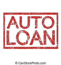 Stamp text AUTO LOAN