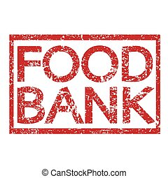Stamp text FOOD BANK