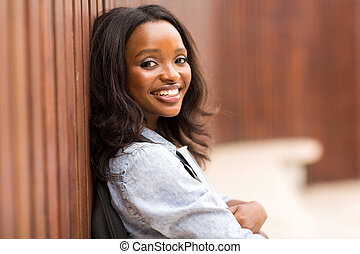 young african american college girl portrait