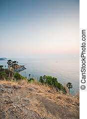Promthep Cape in Phuket - Sunset at Promthep Cape in Phuket,...
