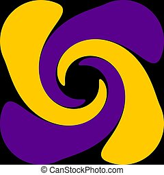 Abstraction decorative spiral - Digital computer graphic -...