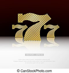 Casino 777 vector background - Casino symbol 777 vector...