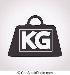 weight kilogram icon