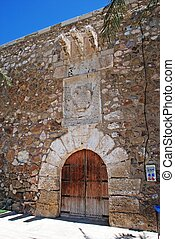San Andres Castle, Carboneras - San Andres castle entrance,...