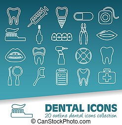 dental outline icons