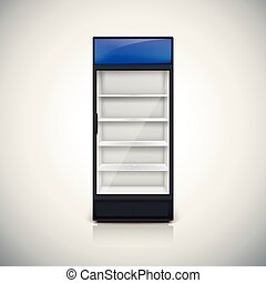 Fridge with glass door - Fridge with glass door, mock-up on...