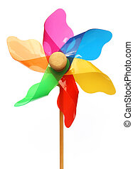 Pinwheel over white background