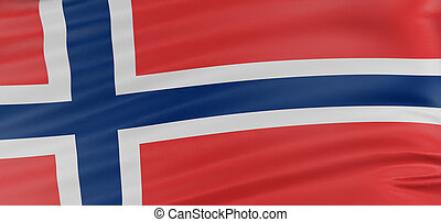 3D Norwegian flag