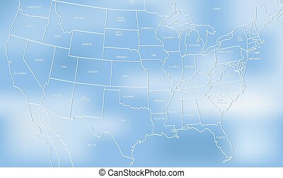 Creative map of the United States o