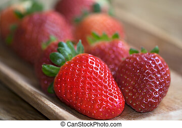 biologic strawberries - healthy and fresh fruit: biologic...