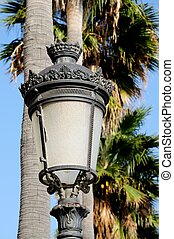 Traditional Spanish Streetlight. - Traditional wrought iron...