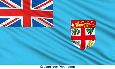 Fijian Flag, with real structure of a fabric