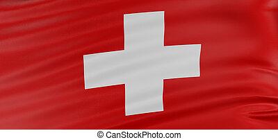 3D Swiss flag