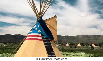 Indian Tepees - Authentic tepee from Native North Americans