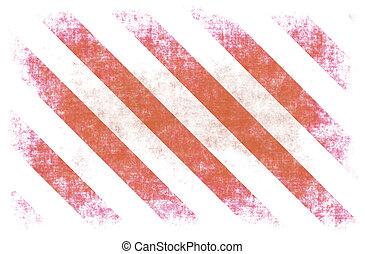 Red White Hazard Stripes as Grunge Background